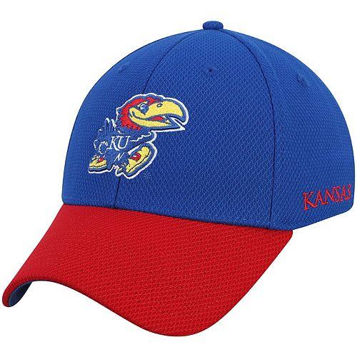Men's adidas Royal/Red Kansas Jayhawks Sideline Coaches Structured Flex Hat