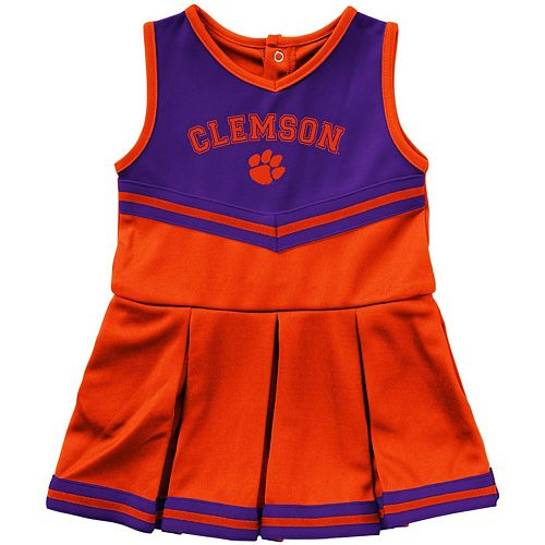 Girls Infant Colosseum Orange Clemson Tigers Pinky Cheer Dress