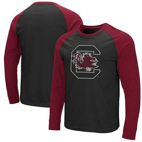 Men's Colosseum Black/Garnet South Carolina Gamecocks Long Sleeve T-Shirt
