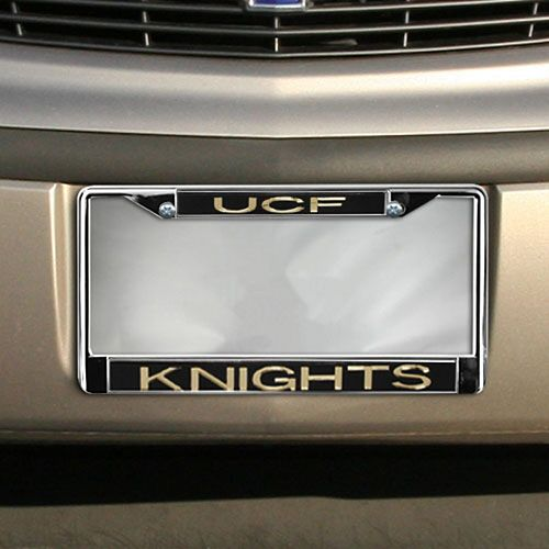 UCF Knights Acrylic Inlay Chrome License Plate Frame