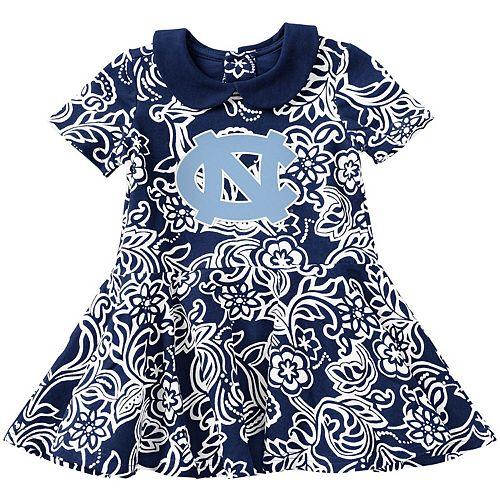 Girls Infant Colosseum Carolina Blue North Carolina Tar Heels Sasha Floral Dress