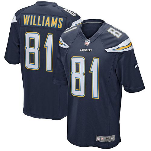 new product 9795f 773cd Men's Nike Mike Williams Navy Los Angeles Chargers Game ...