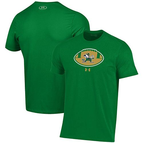 Men's Under Armour Green Notre Dame Fighting Irish Football Icon Performance T-Shirt