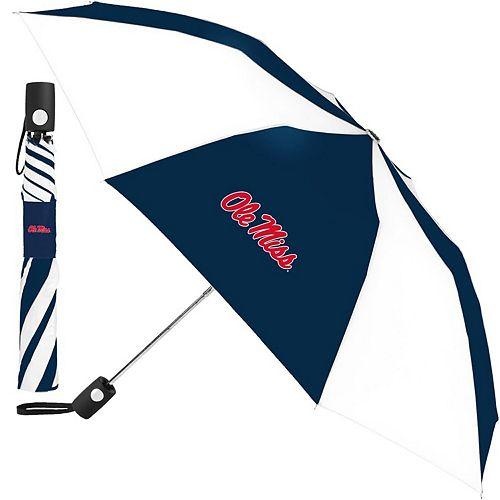 "WinCraft White/Navy Ole Miss Rebels 42"" Folding Umbrella"