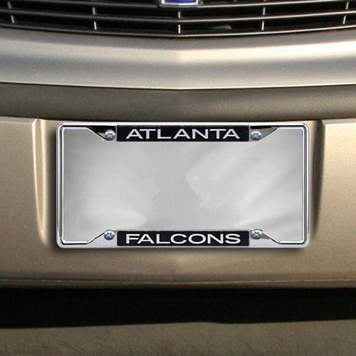 Atlanta Falcons Glitter License Plate Frame - Black
