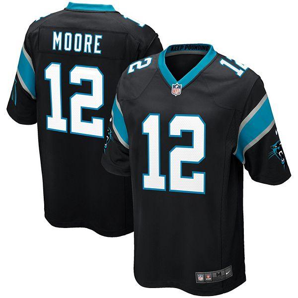 Men's Nike DJ Moore Black Carolina Panthers Game Jersey