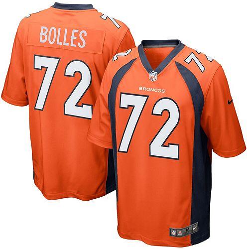 Men's Nike Garett Bolles Orange Denver Broncos Game Jersey