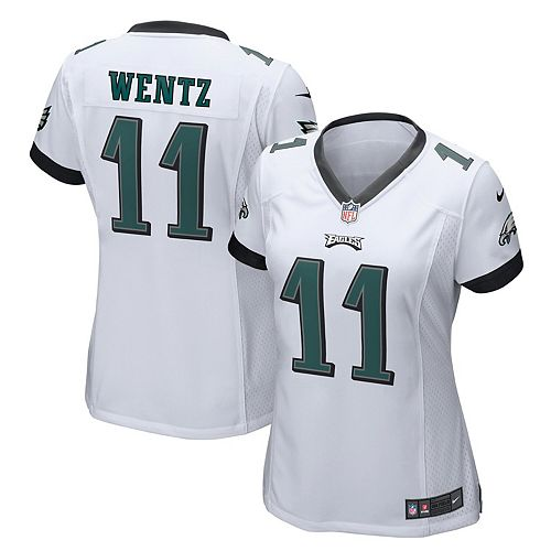 buy online 69a00 13f1a Women's Nike Carson Wentz White Philadelphia Eagles Game Jersey