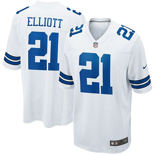 separation shoes 4c7ac c426f Men's Nike Ezekiel Elliott White Dallas Cowboys Game Jersey