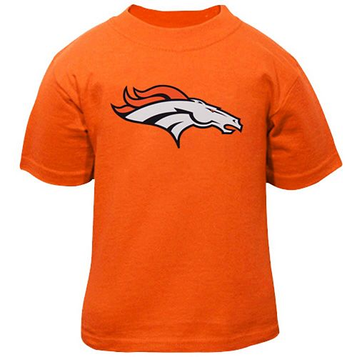 Toddler Denver Broncos Orange Team Logo T-Shirt