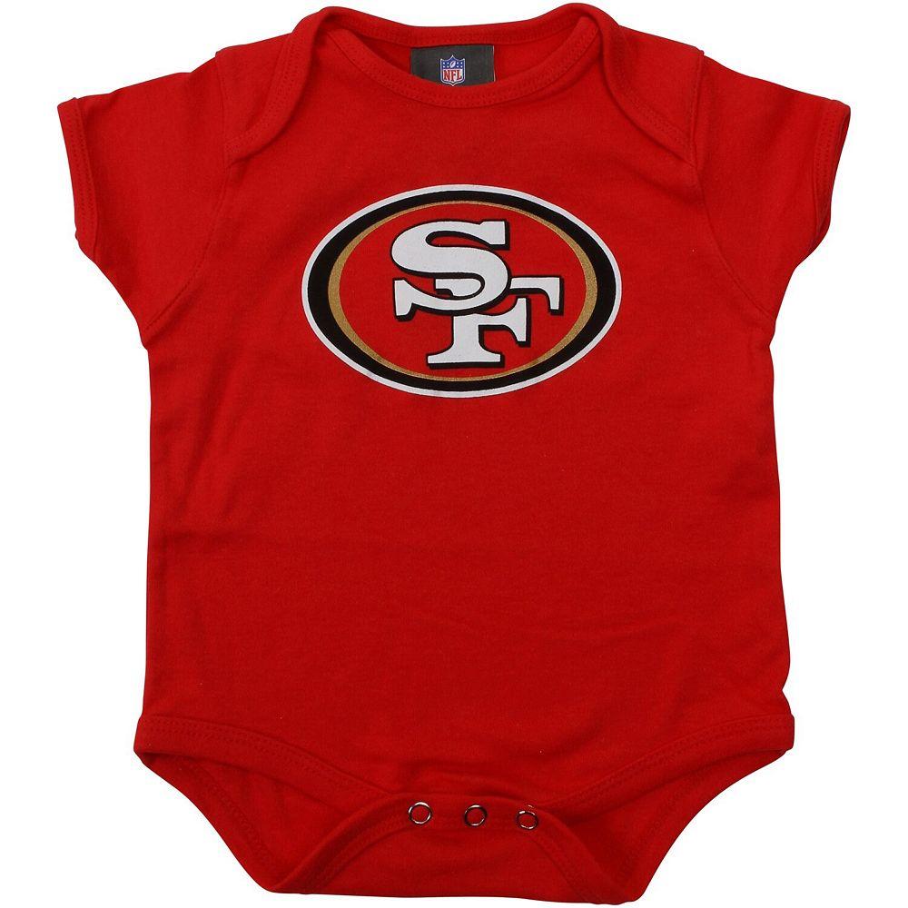 Newborn Scarlet San Francisco 49ers Team Logo Bodysuit