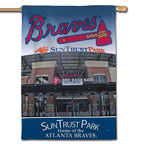 """WinCraft Atlanta Braves 28"""" x 40"""" Vertical Double-Sided Banner"""