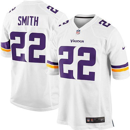 Youth Minnesota Vikings Harrison Smith Nike White Game Jersey