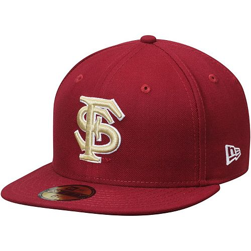 Men's New Era Garnet Florida State Seminoles Basic 59FIFTY Fitted Hat