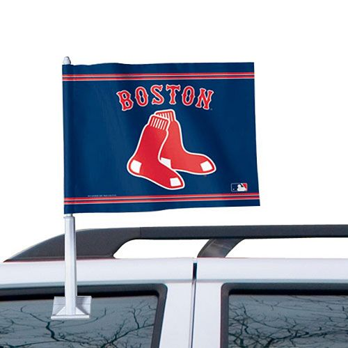 WinCraft Boston Red Sox 11'' x 13'' Two-Sided Car Flag - Navy Blue
