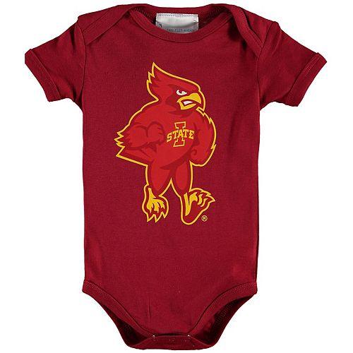 Infant Cardinal Iowa State Cyclones Big Logo Bodysuit