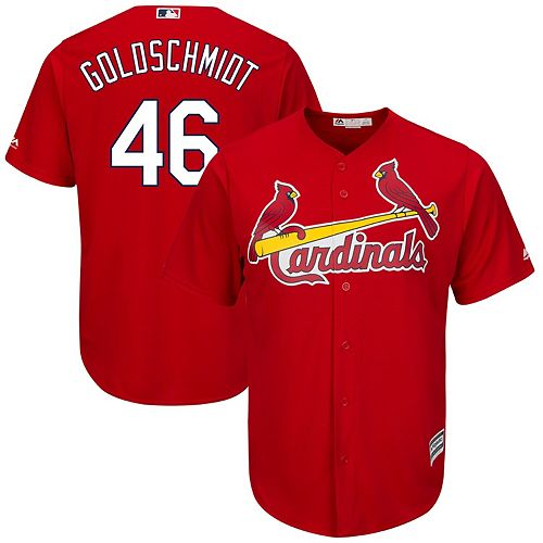 Men's Majestic Paul Goldschmidt Scarlet St. Louis Cardinals Alternate Official Cool Base Player Jersey