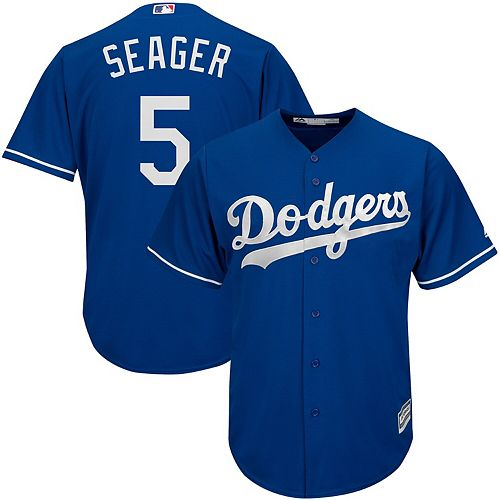 Men's Majestic Corey Seager Royal Los Angeles Dodgers Fashion Official Cool Base Player Jersey