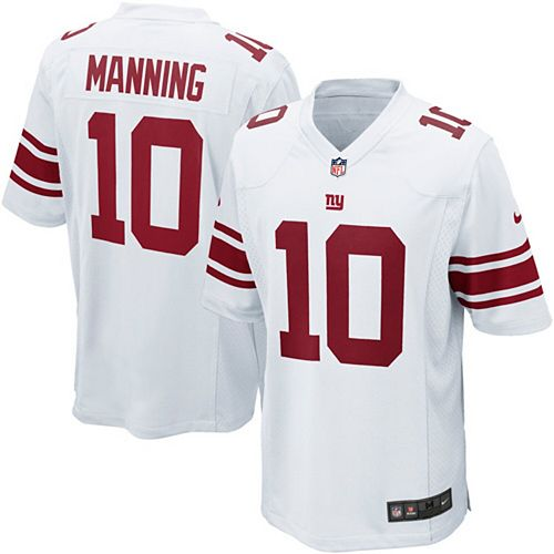 Youth New York Giants Eli Manning Nike White Game Jersey