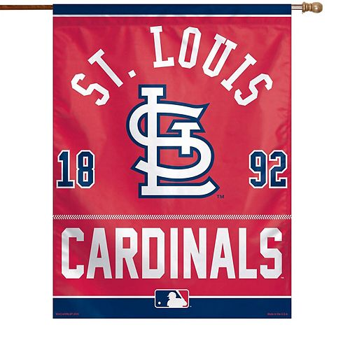 """WinCraft St. Louis Cardinals 27"""" x 37"""" Primary Vertical Banner Flag"""