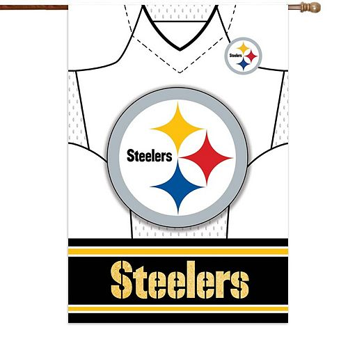 """Pittsburgh Steelers 29"""" x 43"""" Double-Sided Jersey Foil House Flag"""