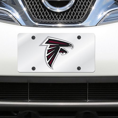 Atlanta Falcons Mirror License Plate With Laser Cut Acrylic Logo