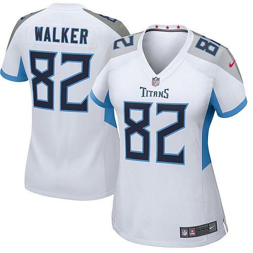 Women's Nike Delanie Walker White Tennessee Titans New 2018 Game Jersey