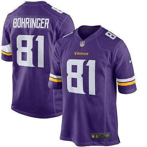 Youth Nike Moritz Bohringer Purple Minnesota Vikings Team Color Game Jersey