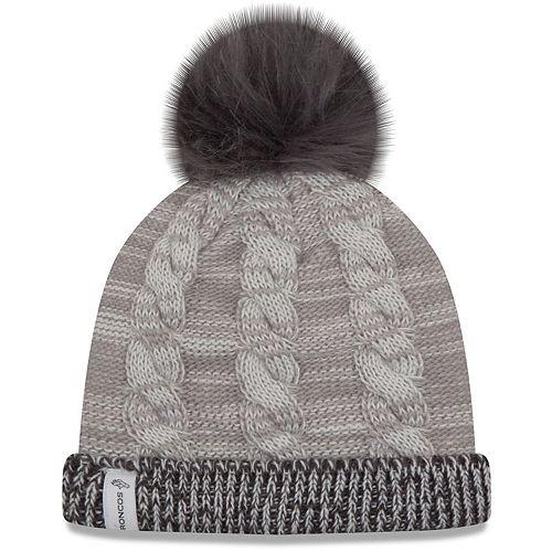 Women's New Era Gray/Graphite Denver Broncos Cozy Team Cuffed Knit Hat