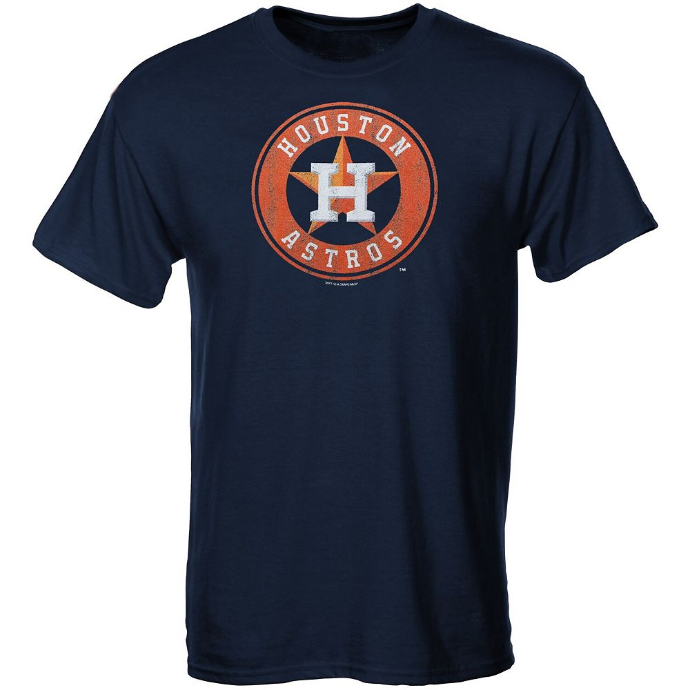 Houston Astros Youth Distressed Logo T-Shirt - Navy Blue