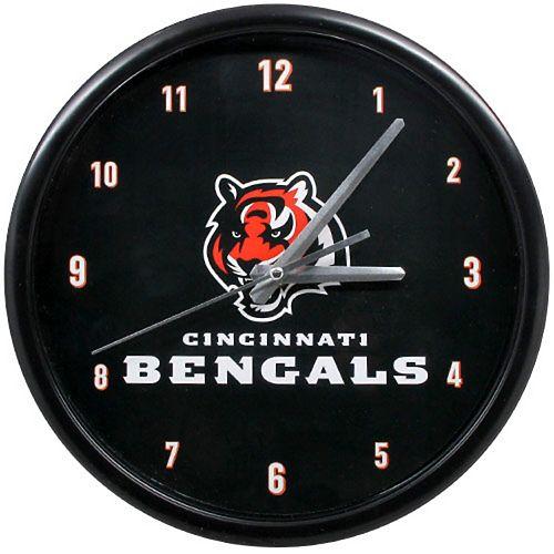 Cincinnati Bengals Black Rim Basic Clock