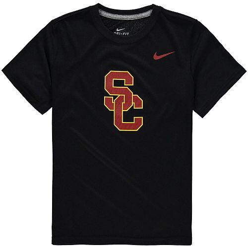 Youth Nike Black USC Trojans Logo Legend Dri-FIT T-Shirt