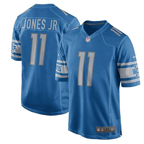 Men's Nike Marvin Jones Jr Blue Detroit Lions 2017 Game Jersey