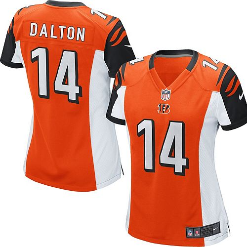 Women's Cincinnati Bengals Andy Dalton Nike Orange Game Jersey