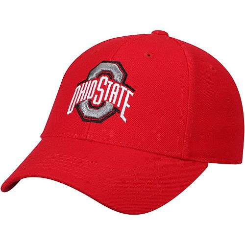 Men's Top of the World Scarlet Ohio State Buckeyes Top Dynasty Fitted Hat