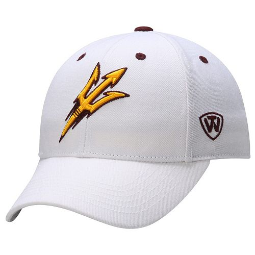 Arizona State Sun Devils Top of the World Dynasty Memory Fit Fitted Hat - White
