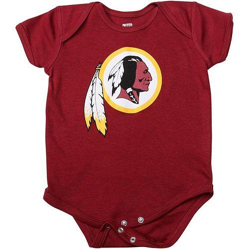 Newborn Burgundy Washington Redskins Team Logo Bodysuit