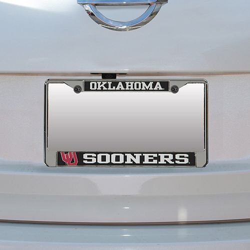 Oklahoma Sooners Small Over Large Mega License Plate Frame