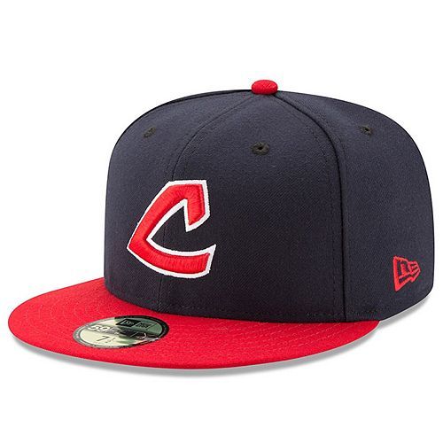 Men's New Era Navy/Red Cleveland Indians Turn Back the Clock Throwback 59FIFTY Fitted Hat
