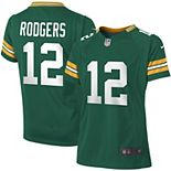 Girls Youth Green Bay Packers Aaron Rodgers Nike Green Game Jersey
