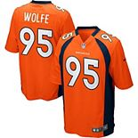 Youth Denver Broncos Derek Wolfe Nike Orange Team Color Game Jersey