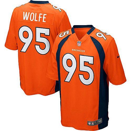 Youth Denver Broncos Derek Wolfe Nike Orange Team Color Game Jersey