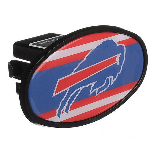 "Buffalo Bills Stripe Oval Fixed 2"" Hitch Cover"