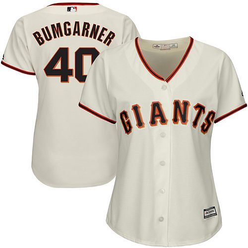 Women's Majestic Madison Bumgarner San Francisco Giants Cream Cool Base Player Jersey
