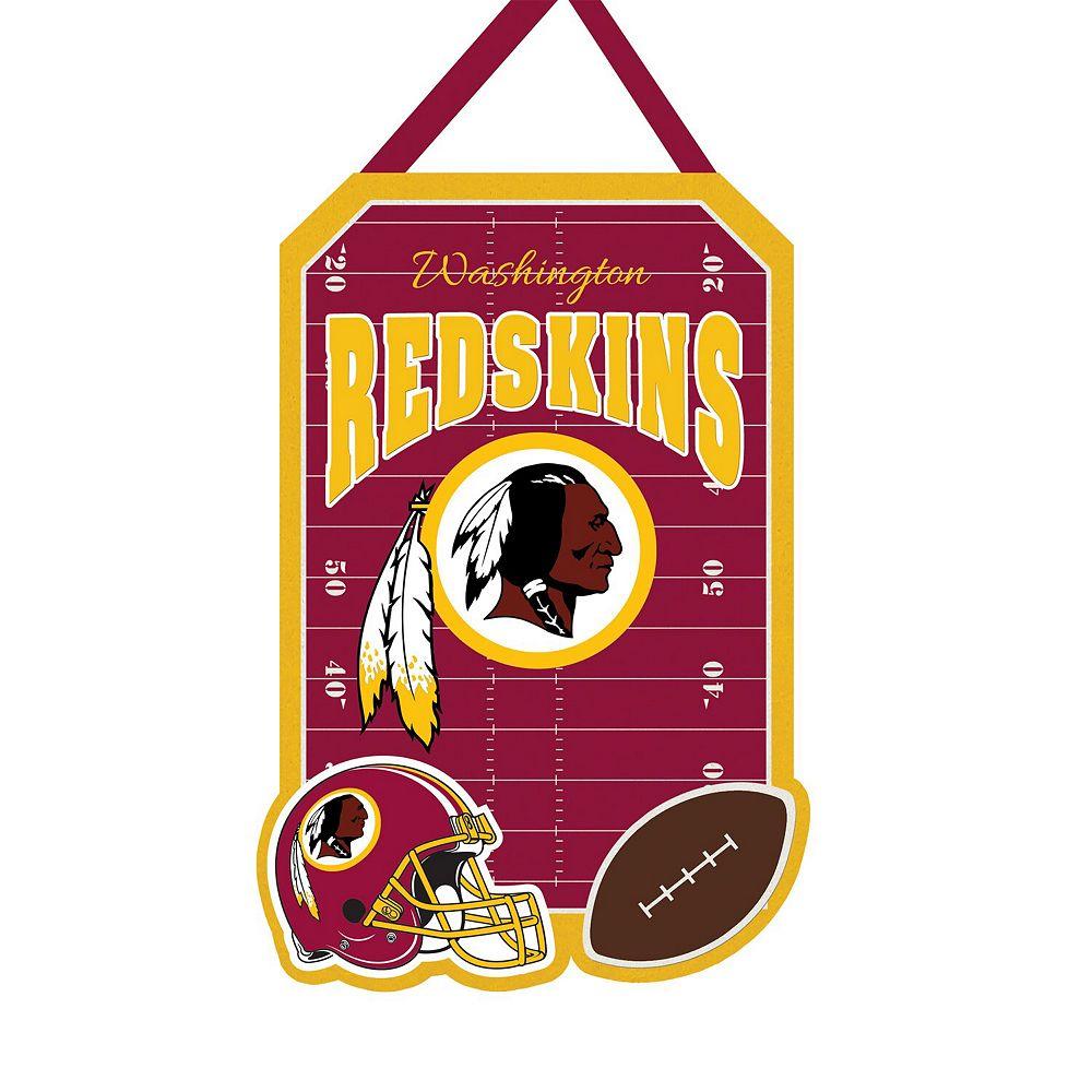 """Washington Redskins 20.5"""" x 16.5"""" Felt Door Decor Wall Banner"""