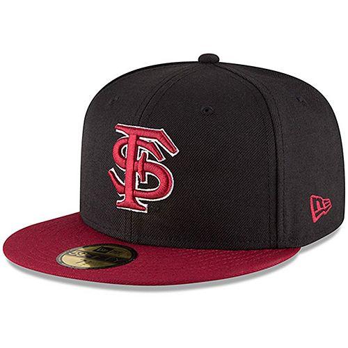 Men's New Era Black/Garnet Florida State Seminoles Basic 59FIFTY Fitted Hat