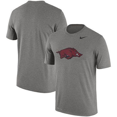 Men's Nike Dark Gray Arkansas Razorbacks Logo Legend Dri-FIT Performance T-Shirt