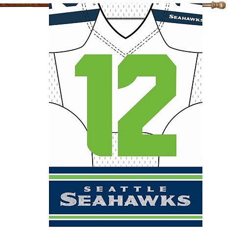 "Seattle Seahawks 29"" x 43"" Double-Sided Jersey Foil House Flag"