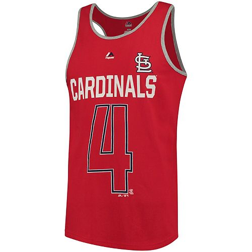 Men's Majestic Yadier Molina Red St. Louis Cardinals Catch The Dream Tank Top