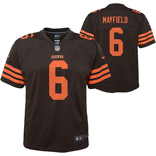 Youth Nike Baker Mayfield Brown Cleveland Browns Color Rush Player Game Jersey